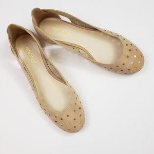 NWOT》Nine West Marie Lasercut Leather Ballet Flats